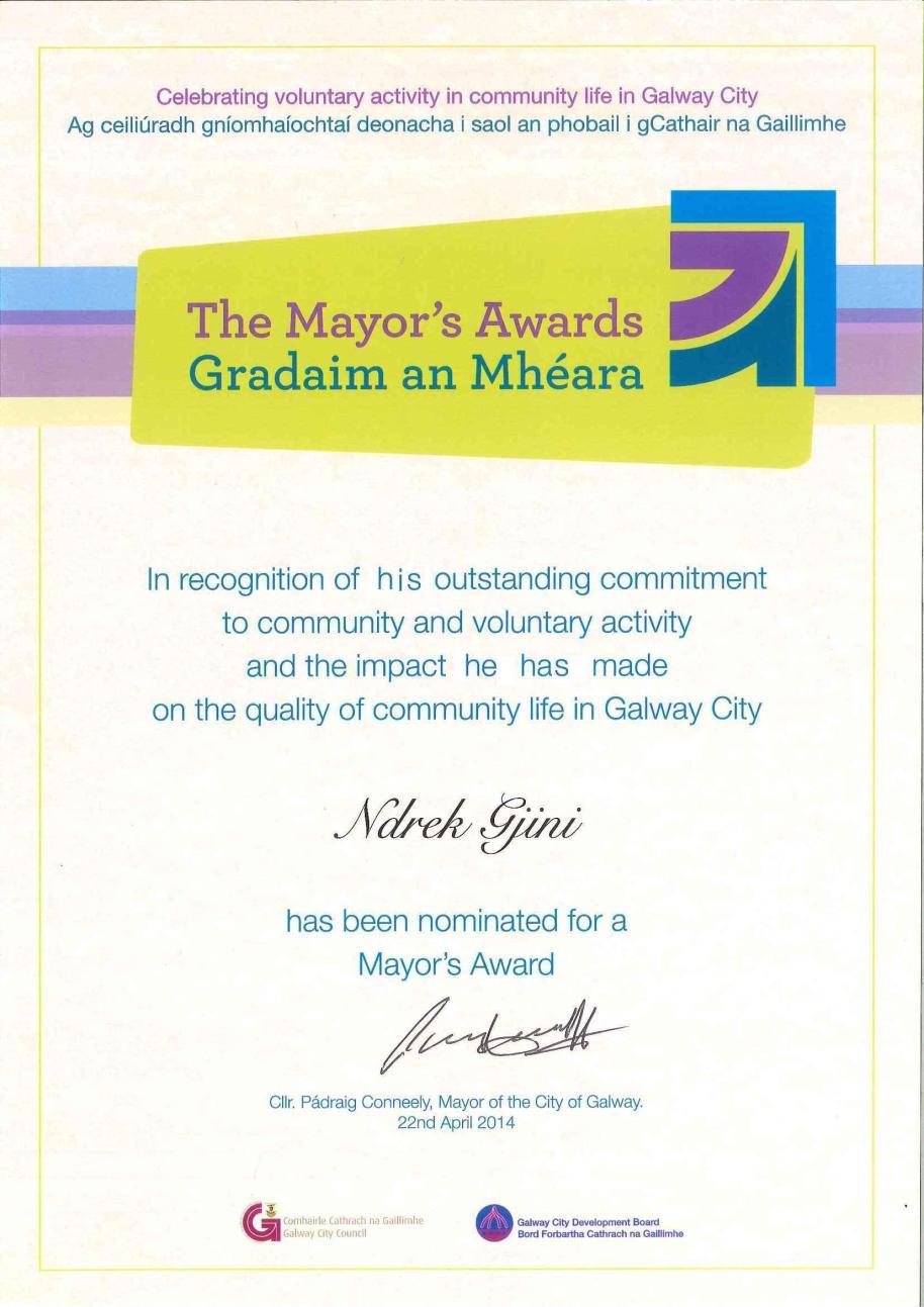 Ndrek Award